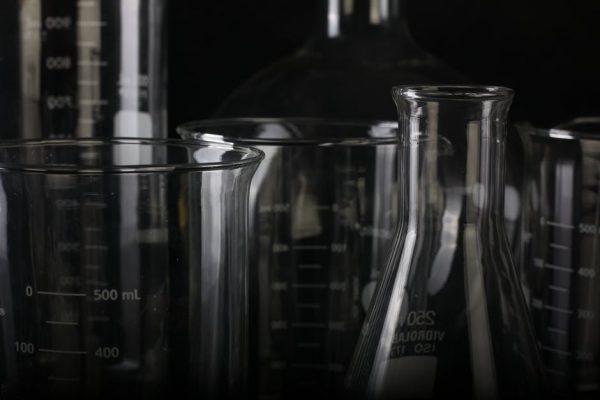 laboratorium, szkło