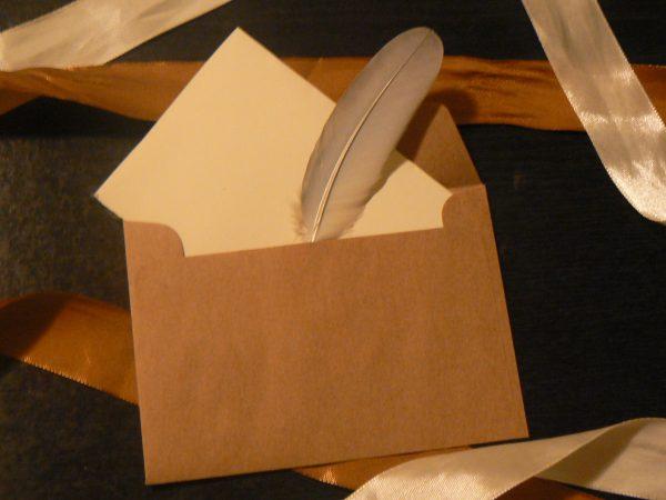 List w kopercie