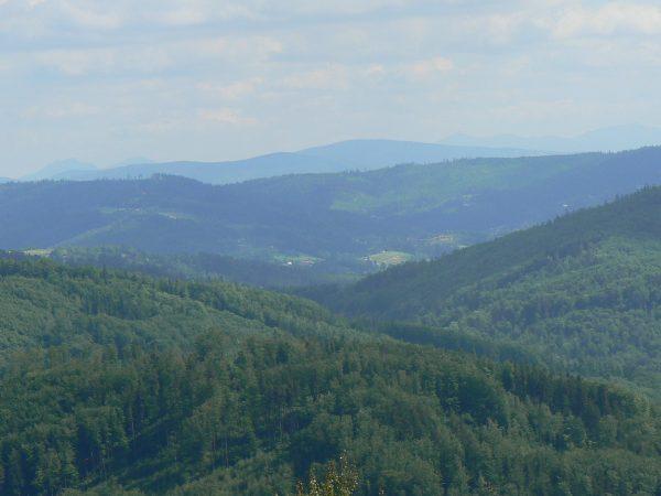 marzycielski widok na góry