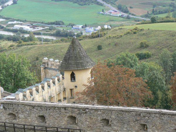 Mury zamku, Stara Lubowla, Słowacja