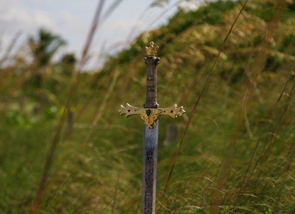 miecz wiosną