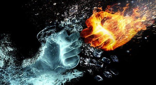 walka ognia z wodą